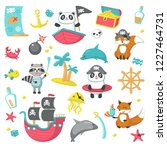 pirate icon set. illustration... | Shutterstock . vector #1227464731