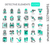 detective elements   thin line... | Shutterstock .eps vector #1227466951