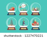 merry christmas glass ball... | Shutterstock .eps vector #1227470221