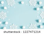 christmas or winter composition.... | Shutterstock . vector #1227471214