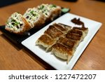 japanese dimsum gyoza with rice ... | Shutterstock . vector #1227472207
