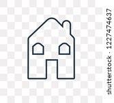 hut vector outline icon... | Shutterstock .eps vector #1227474637