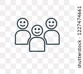 happy kids vector outline icon... | Shutterstock .eps vector #1227474661