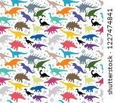 dinosaur. hand drawn dinosaurs... | Shutterstock .eps vector #1227474841