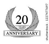 20 years design template. 20th... | Shutterstock .eps vector #1227477697