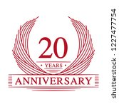 20 years design template. 20th... | Shutterstock .eps vector #1227477754