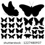set of beautiful butterflies... | Shutterstock .eps vector #1227480937