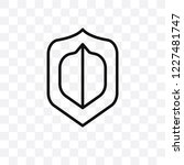 antivirus vector linear icon... | Shutterstock .eps vector #1227481747