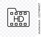 hd movie vector linear icon... | Shutterstock .eps vector #1227484657