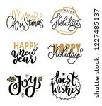 merry christmas and happy new... | Shutterstock .eps vector #1227485137