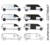 several van sketch. vector... | Shutterstock .eps vector #122748667