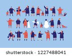 large group of people dressed... | Shutterstock .eps vector #1227488041