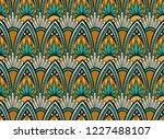 cascading seamless boho leaf... | Shutterstock .eps vector #1227488107