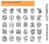 help and support   thin line... | Shutterstock .eps vector #1227488941
