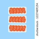 meat steaks fresh organic... | Shutterstock .eps vector #1227489154