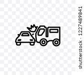 side crash vector linear icon... | Shutterstock .eps vector #1227489841