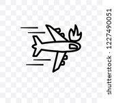crash vector linear icon... | Shutterstock .eps vector #1227490051