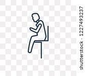 man sitting with headache... | Shutterstock .eps vector #1227493237