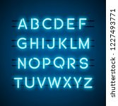 the english alphabet capital... | Shutterstock .eps vector #1227493771