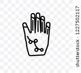 henna painted hand vector... | Shutterstock .eps vector #1227502117