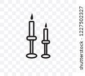 wedding candle vector linear... | Shutterstock .eps vector #1227502327
