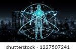 digital x ray human body scan... | Shutterstock . vector #1227507241