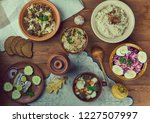 estonian cuisine  traditional... | Shutterstock . vector #1227507997