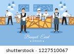 banquet event order concept.... | Shutterstock .eps vector #1227510067