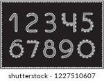 crochet numbers set. handicraft ...   Shutterstock .eps vector #1227510607