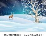 christmas night background.... | Shutterstock .eps vector #1227512614