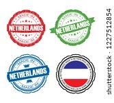 stamp made in netherlands label ... | Shutterstock .eps vector #1227512854