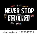 skate board vector... | Shutterstock .eps vector #1227517291