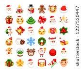 christmas emojis set. santa... | Shutterstock .eps vector #1227520447