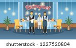 catering service and banquet... | Shutterstock .eps vector #1227520804