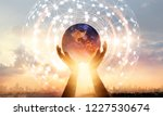 abstract science. hands... | Shutterstock . vector #1227530674