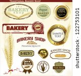 retro bakery badges and labels | Shutterstock .eps vector #122753101