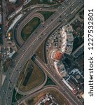 an intersection shot from above ... | Shutterstock . vector #1227532801