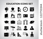 education icons set  vector | Shutterstock .eps vector #122753344