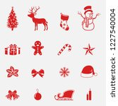 christmas icons set | Shutterstock .eps vector #1227540004