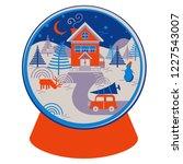 christmas vector illustration... | Shutterstock .eps vector #1227543007