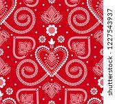 folklore floral nordic... | Shutterstock .eps vector #1227543937