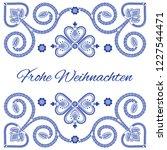 nordic folk art season card... | Shutterstock .eps vector #1227544471