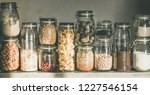 rustic kitchen food storage... | Shutterstock . vector #1227546154