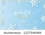 winter snowflakes background... | Shutterstock .eps vector #1227546484