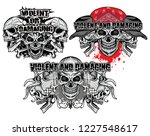 set gothic and aggressive... | Shutterstock .eps vector #1227548617