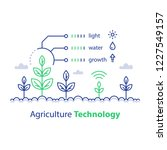 agriculture technology  smart... | Shutterstock .eps vector #1227549157