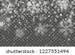 christmas snow. falling... | Shutterstock .eps vector #1227551494