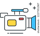 line vector icon of video... | Shutterstock .eps vector #1227551587