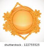 steampunk circle speech bubble