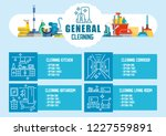 general cleaning concept. dry... | Shutterstock .eps vector #1227559891